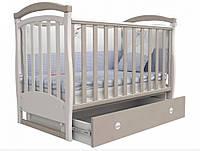 Детская кроватка Верес Соня ЛД 6 маятник + ящик (Бело-серый)