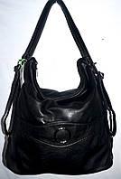 Женская черная сумка-рюкзак на молнии размер 32*32 см
