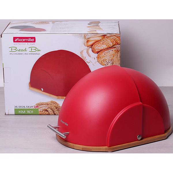 Хлебница Kamille Breadbasket с пластиковой крышкой