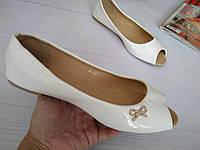 Женские балетки белые, фото 1