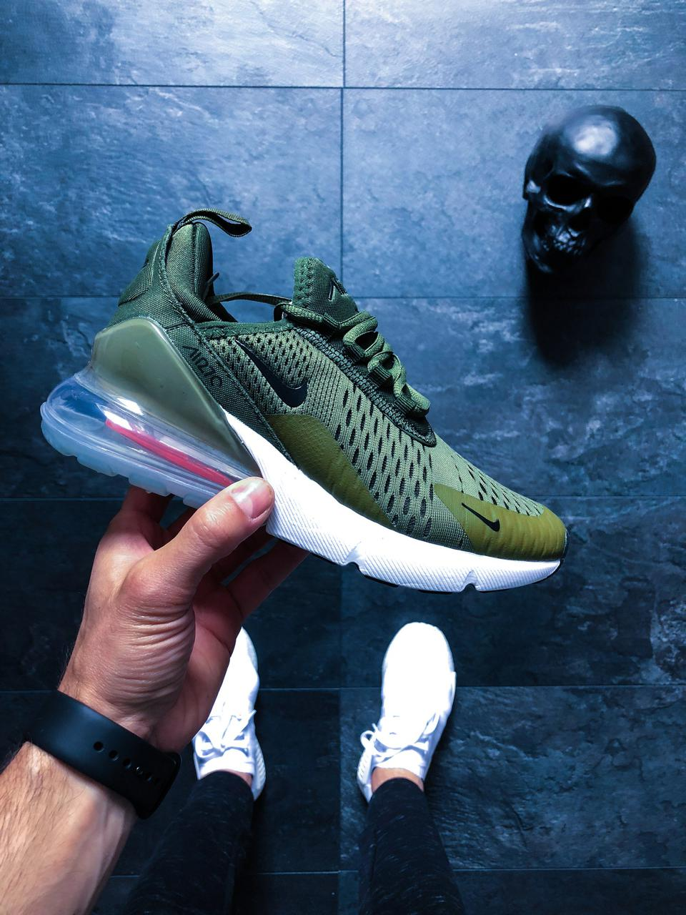 dd206582 Кроссовки в стиле Nike Air Max 270 (Medium Olive / Black): продажа ...