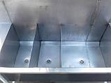 Мойка промышленная из нержавейки 1,77 м. б/у, нержавеющая мойка промышленная б у., фото 8