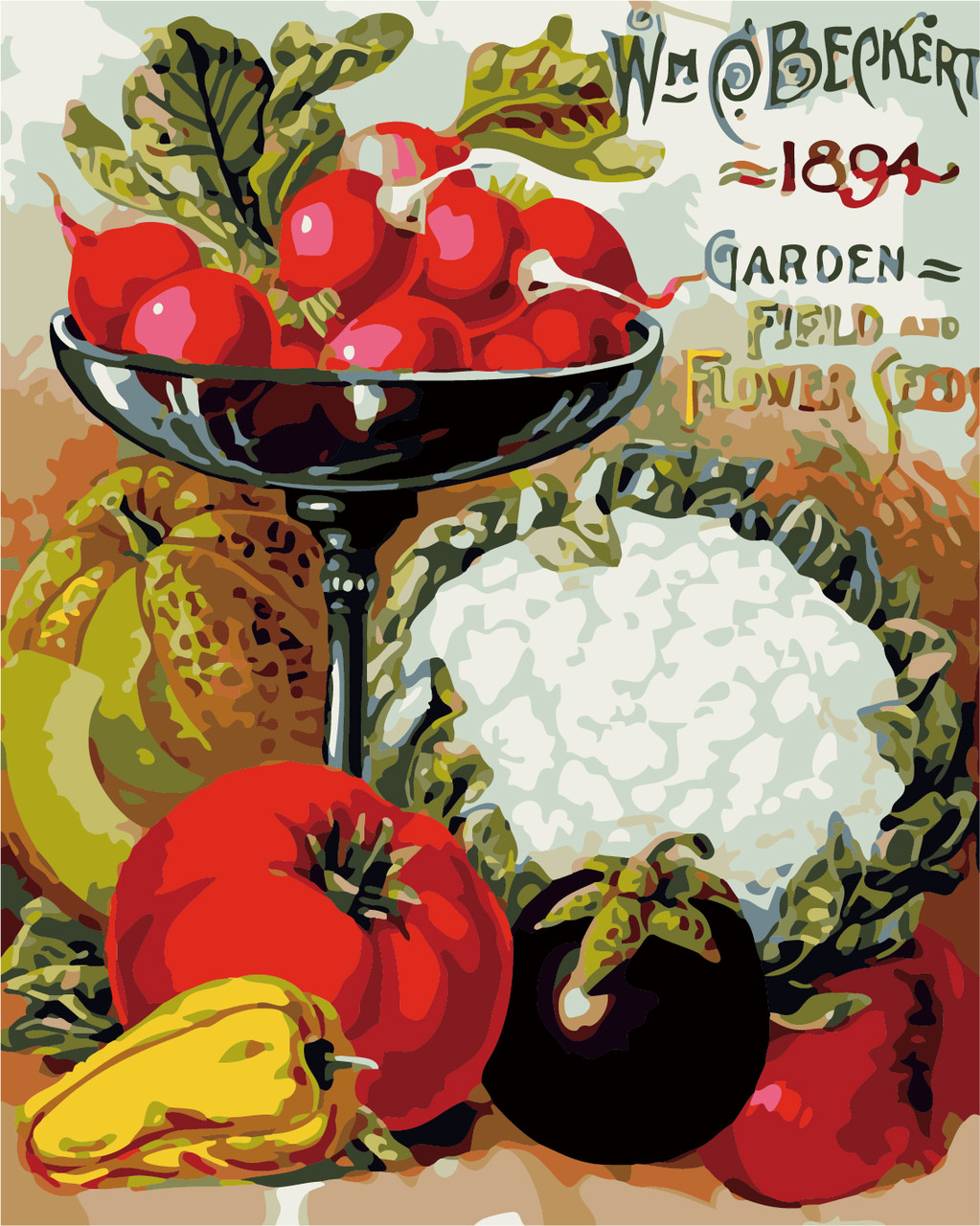 Раскраска по номерам Овощное разнообразие ArtStory AS0305 40 х 50 см