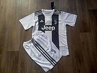 Детская футбольная форма Ювентус  2018-2019 основная черно-белая, фото 1