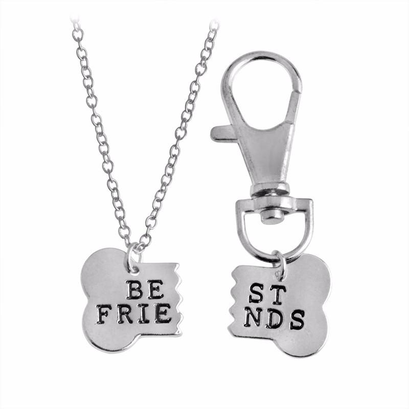 Двойной кулон Best Friends Серебро для хозяина и собаки