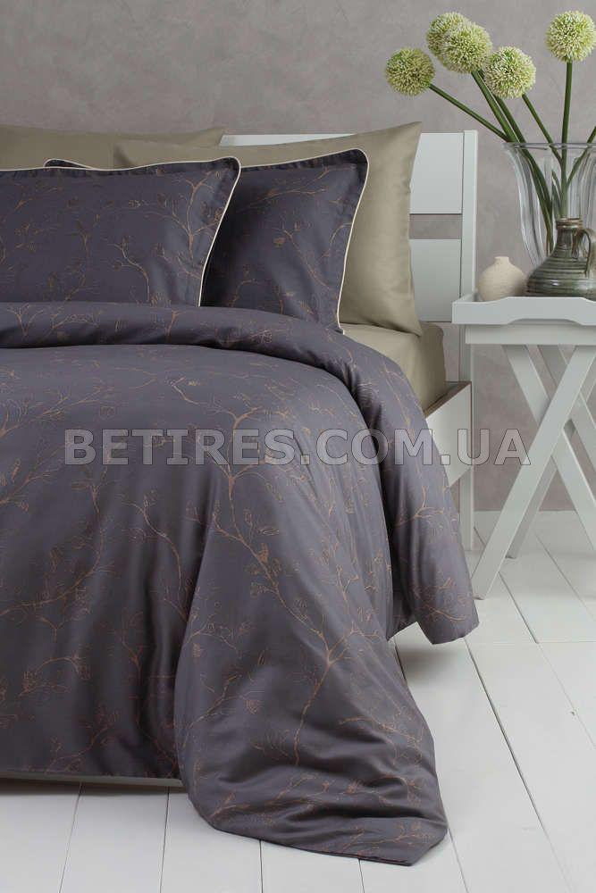 Комплект постельного белья 200x220 PAVIA AVRIL антрацитовый