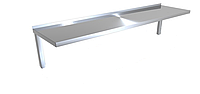 Полиця навісна 1-рівнева CHIMNEYBUD, 1300x350x220 мм.