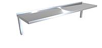 Полка навесная 1-о уровневая CHIMNEYBUD, 1500x400x220 мм.