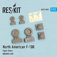 North American F-100 Super Sabre wheels set 1/72 RES/KIT 72-0071