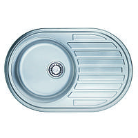 Мойка кухонная ULA 7108 мм ZS нержавейка Micro Decor 0.8 мм, фото 1