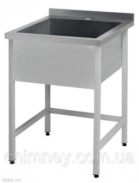 Ванна мийна односекційна CHIMNEYBUD, 500x600x850 мм (нержавіюча сталь/304)