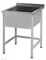 Ванна мийна односекційна CHIMNEYBUD, 600x600x850 мм (нержавіюча сталь/304)