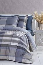Комплект постельного белья 200x220 PAVIA PEPITA GRI синий