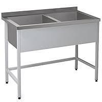 Ванна мийна двохсекційна CHIMNEYBUD, 1500x800x850 мм (нержавіюча сталь/304)