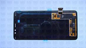 Дисплей с сенсором Samsung A730 Galaxy A8 Plus чёрный/black, GH97-21534A, фото 2