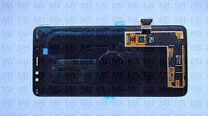 Дисплей з сенсором Samsung A730 Galaxy A8 Plus чорний/black, GH97-21534A, фото 2