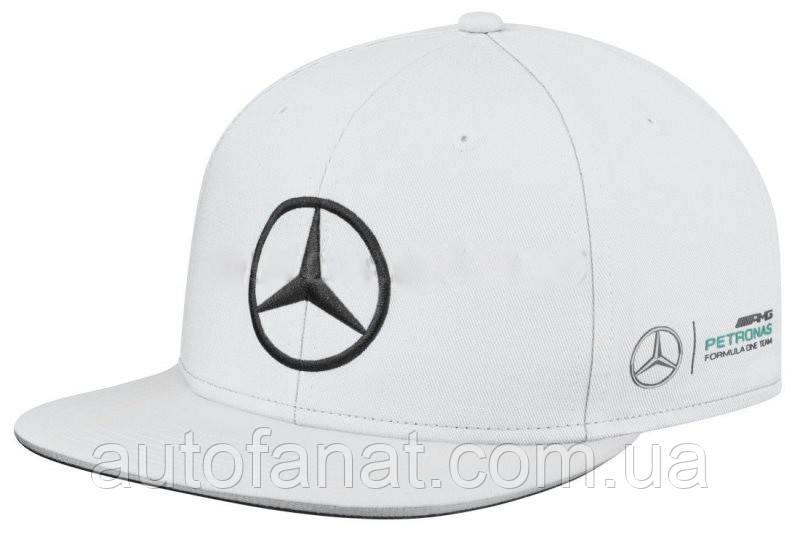 Бейсболка Mercedes F1 Cap Lewis Hamilton, Flat Brim, White (B67995413)