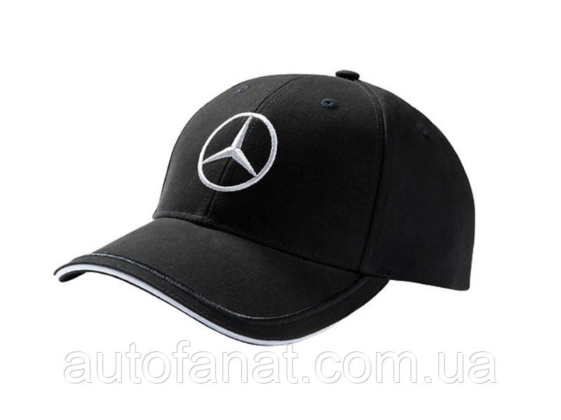 Мужская бейсболка Mercedes Men's Cap Black, 100% cotton, артикул B66953150