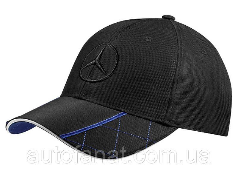 Мужская бейсболка Mercedes-Benz Men's Baseball Cap, Black / Blue, артикул B66952924