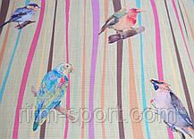 Коврик для йоги джутовый Птицы (лен, каучук армированный, 183 * 61 * 0,3 см), фото 3