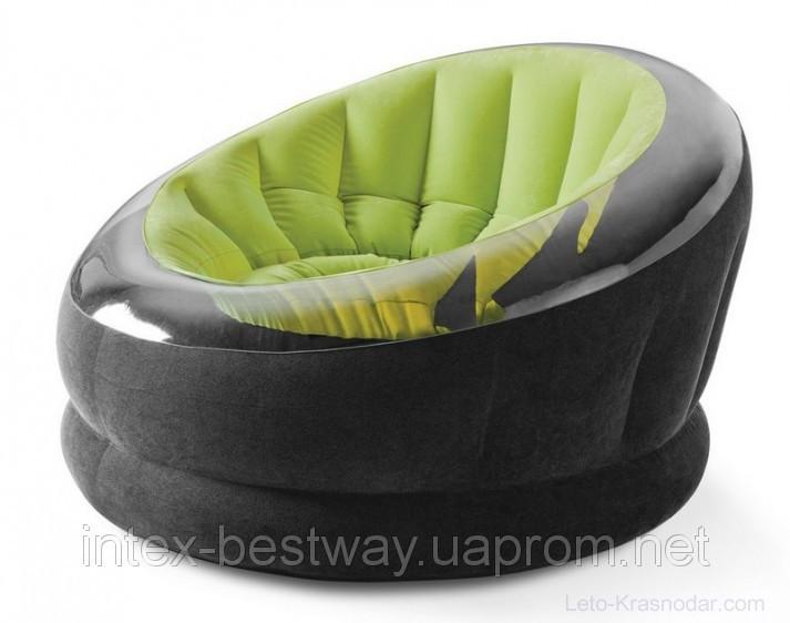 Кресло Intex EMPIRE CHAIR 112х109х69 см Зелёное (68582NP)