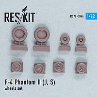 F-4 Phantom II (J, S) wheels set 1/72  RES/KIT 72-0066