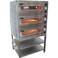 Печь для пиццы профессиональная электрическая 18 кВт, 450°С , ППЕ-4+4+4 Н, АРМ-ЭКО