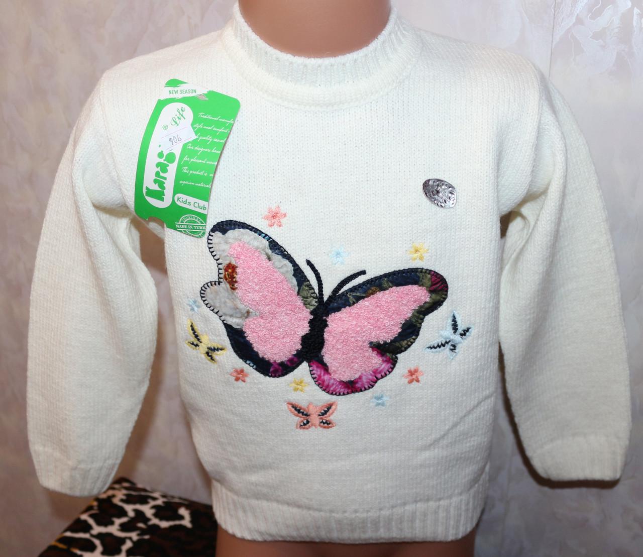 Вязаный свитер на девочку 0-1, 1-2, 2-3 года