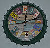 """Часы """"Бутылочная пробка"""" (green 35 см.)"""