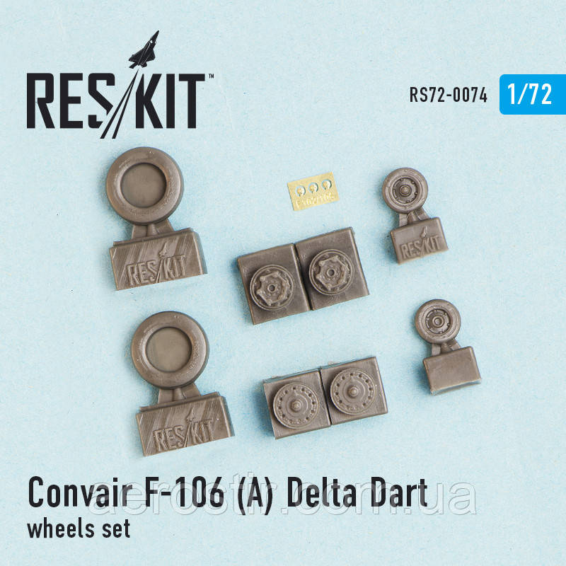 Convair F-106 (А) Delta Dart wheels set 1/72 RES/KIT 72-0074