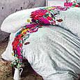 Комплект постельного белья 200x220 ISSIMО DESTINY (3D печать) простынь на резинке, фото 4