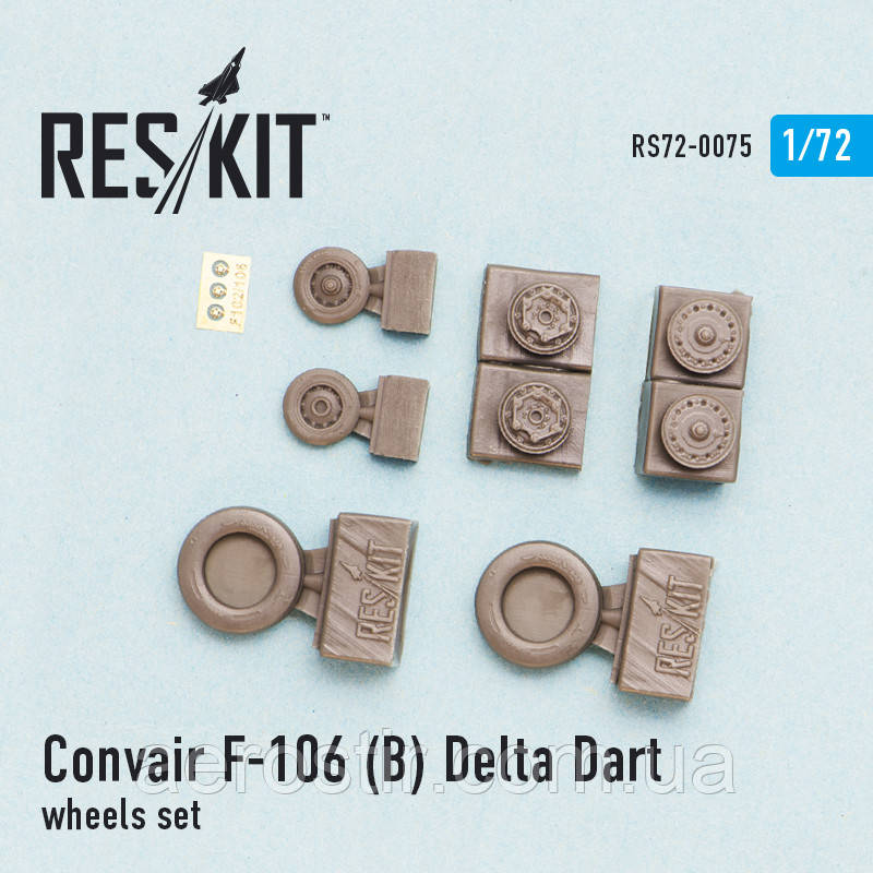 Convair F-106 (B) Delta Dart wheels set 1/72  RES/KIT 72-0075