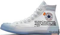 Мужские кроссовки Converse x Virgil Abloh Chuck 70 High Top 162204C, Конверс Аблох Чак 70