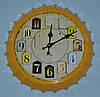 """Часы """"Бутылочная пробка"""" (yellow 35 см.)"""