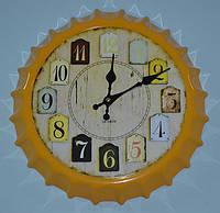"Часы ""Бутылочная пробка"" (yellow 35 см.), фото 1"