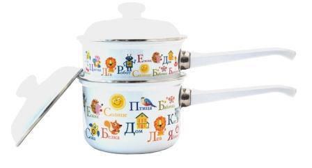 Набір посуду емальований ЛИСЬВА циліндричний 199АП/4 детск. Азбука