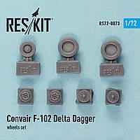 Convair F-102 Delta Dagger wheels set 1/72 RES/KIT 72-0073
