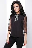 Ефектна жіноча блуза з рукавами 3/4 з тонкої сітки 7062, фото 1