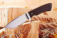 Нож нескладной (рукоять- метал,дерево) для активного отдыха Ворон .