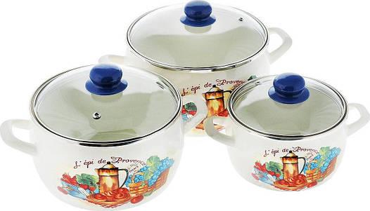 Набір посуду емальований METROT 2617 Принц Прованс 173295