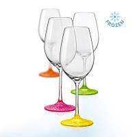 Бокал для вина Bohemia Neon Frozen 350 мл 4 шт (40729/D4896/350)_301180