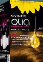 Olia Coloration Karamellbraun 6.3 - Стойкая крем-краска для волос без аммиака, 6.3 Карамельно-коричневый