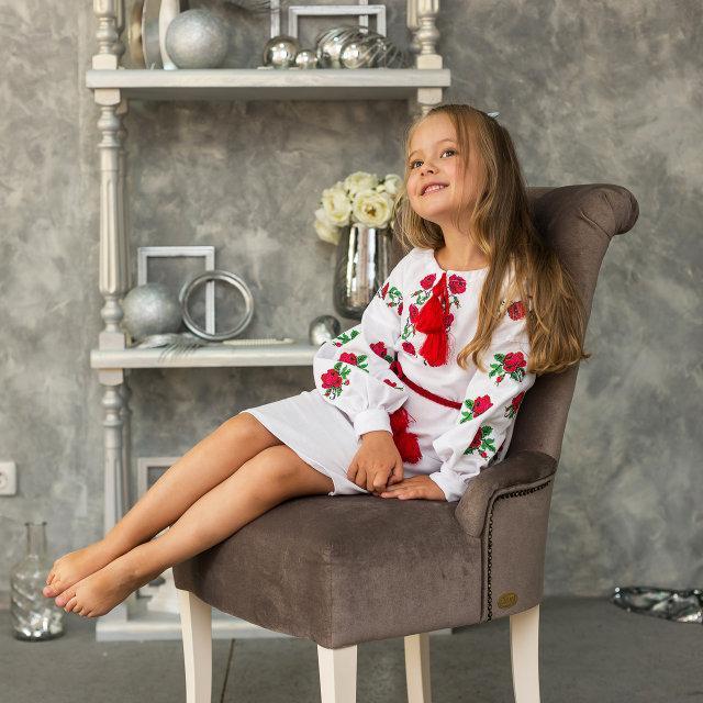 Платье вышитое Трояндочка
