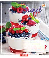 Тетрадь 48 листов клетка YES Sweet eat