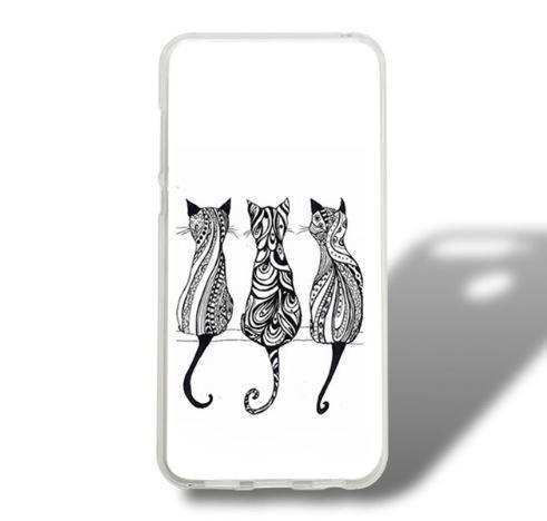 Оригінальний TPU чехол з картинкою для Huawei Y6 Prime 2018 / honor 7A Pro Три кота