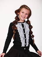 Кофточка-блуза трикотажная школьная для девочки 122-152 см.