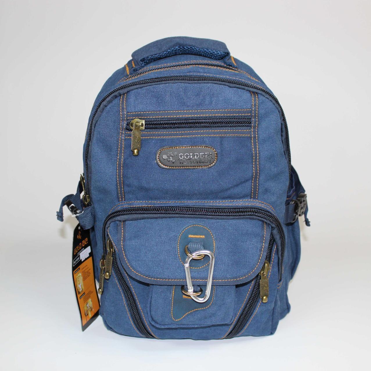 Джинсовий міський чоловічий рюкзак GOLD BE 0107   синій  ( 37х31х21 см. 25 літрів)