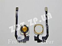Шлейф с кнопкой Home Iphone 5S White/Gold (7300062Wg)