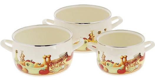 Набір посуду емальований METROT 2363 3 предмета Еміна 128755