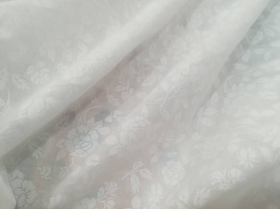 Ткань батист белый принт в цветочек, фото 2
